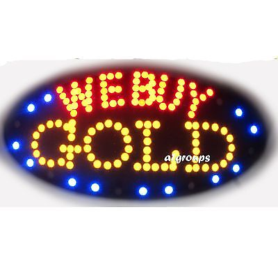 We Buy Gold Flashing Animated Real Led Open Sign Onoff Switch
