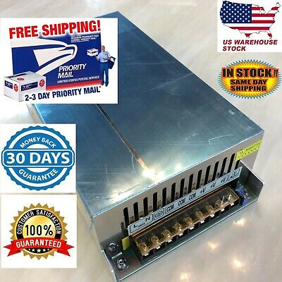 12v Dc 60a Regulated Switching Power Supply Twin Fan 720w Led Light Cooling