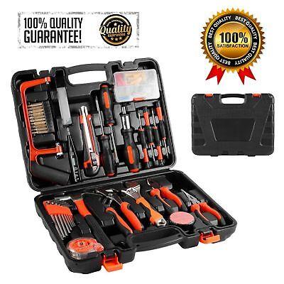 100 PC Household Tools Garden Home Tool Set Kit Box Repair Hard Case DIY Handy X