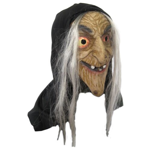 Evil Witch Long Nosed Old Woman Scary Funny Adult Latex Halloween Costume Mask