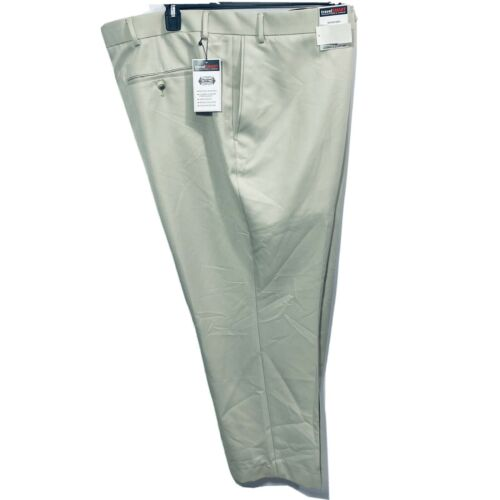 Roundtree & Yorke Travel Smart Ultimate Comfort Pants 52×32 Stone Microfiber Clothing, Shoes & Accessories