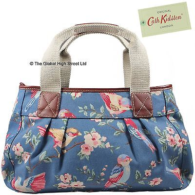 cath kidston plissiert schultertasche britisch vogel blau 100 authentic ebay. Black Bedroom Furniture Sets. Home Design Ideas