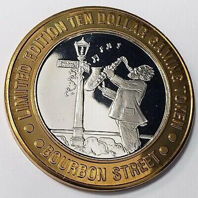 1996 GDC Bourbon Street Casino .999 Silver Strike $10 Jazz Player Token >BSJP80