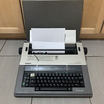 Brother Ax-20 Electric Typewriter Word Out Spell Checker With Cover Japan Works