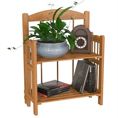 Small 2 Shelf Wooden Bookcase with Cedar Finish 20 Inches High ()