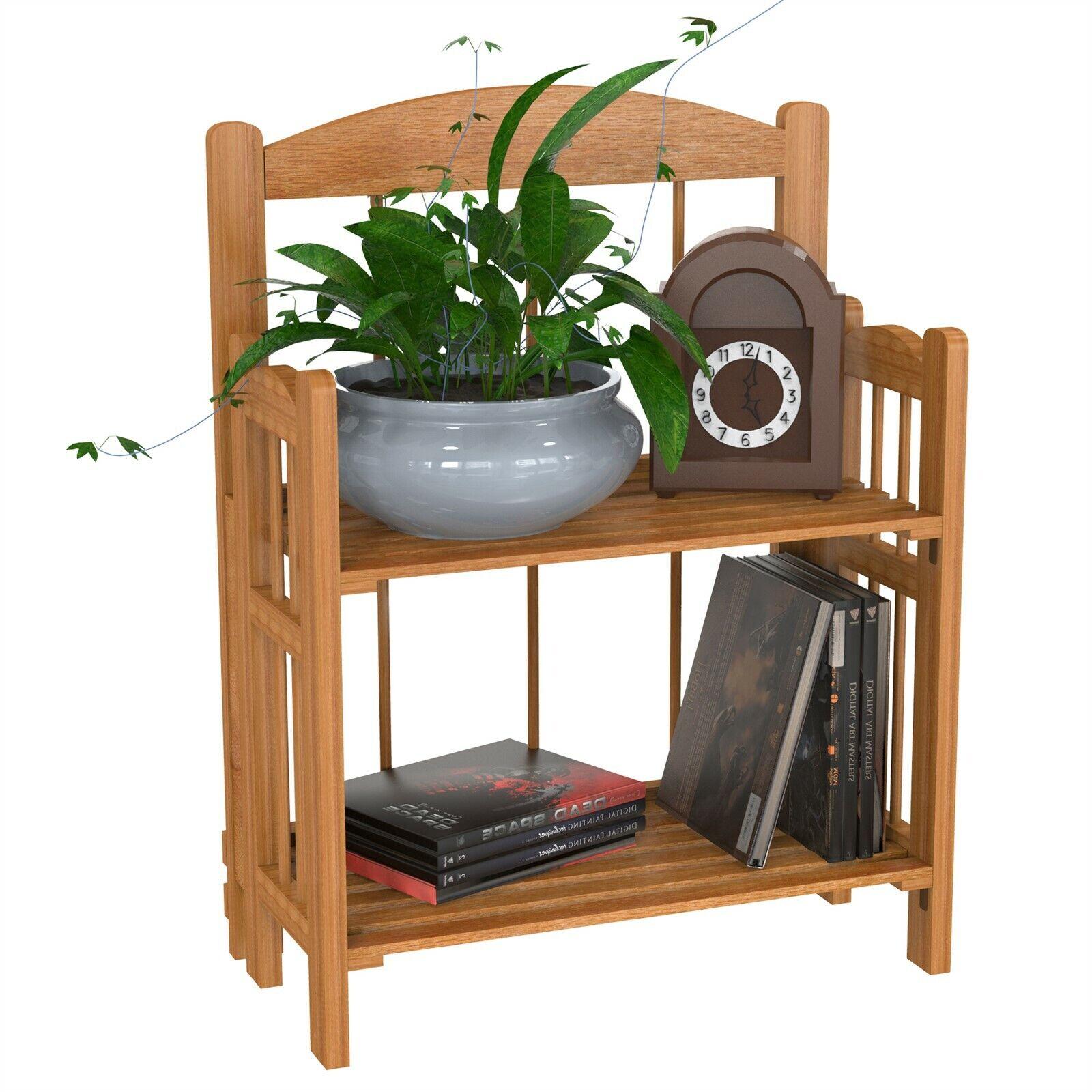 Lavish Home 2-Shelf Cedar Finish Bookcase
