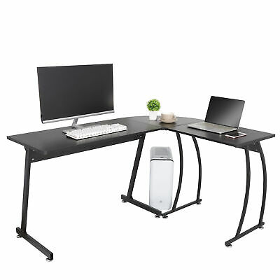L-shape Corner Desk Computer Game Office Durable Laptop Workstation Study Home