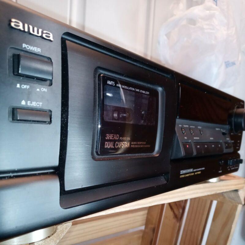 Aiwa AD-F850 Stereo Cassette Deck Dual/3head PC-OCC Capstan Dolby A B W/ Remote