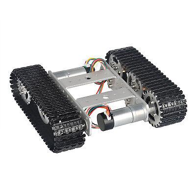 Tank Robot Smart Car Platform Aluminum Alloy Chassis Dual Dc9v Motor Arduino Diy
