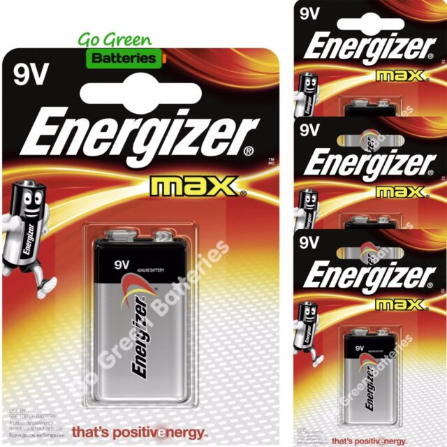NEW 4 X PACK Energizer Battery Max 522 9V Batteries Alkaline VOLT SINGLE USE Lot
