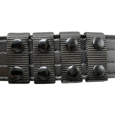 Perfect Fit Nylon Duty Belt Keepers 4 Pack Black Dual Snap 1