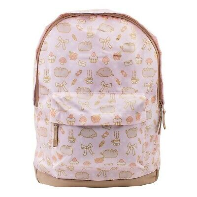 Pusheen Cat Pink Cupcakes Coffee Candy Cute School Book Bag Backpack - Caterpillar Cupcakes