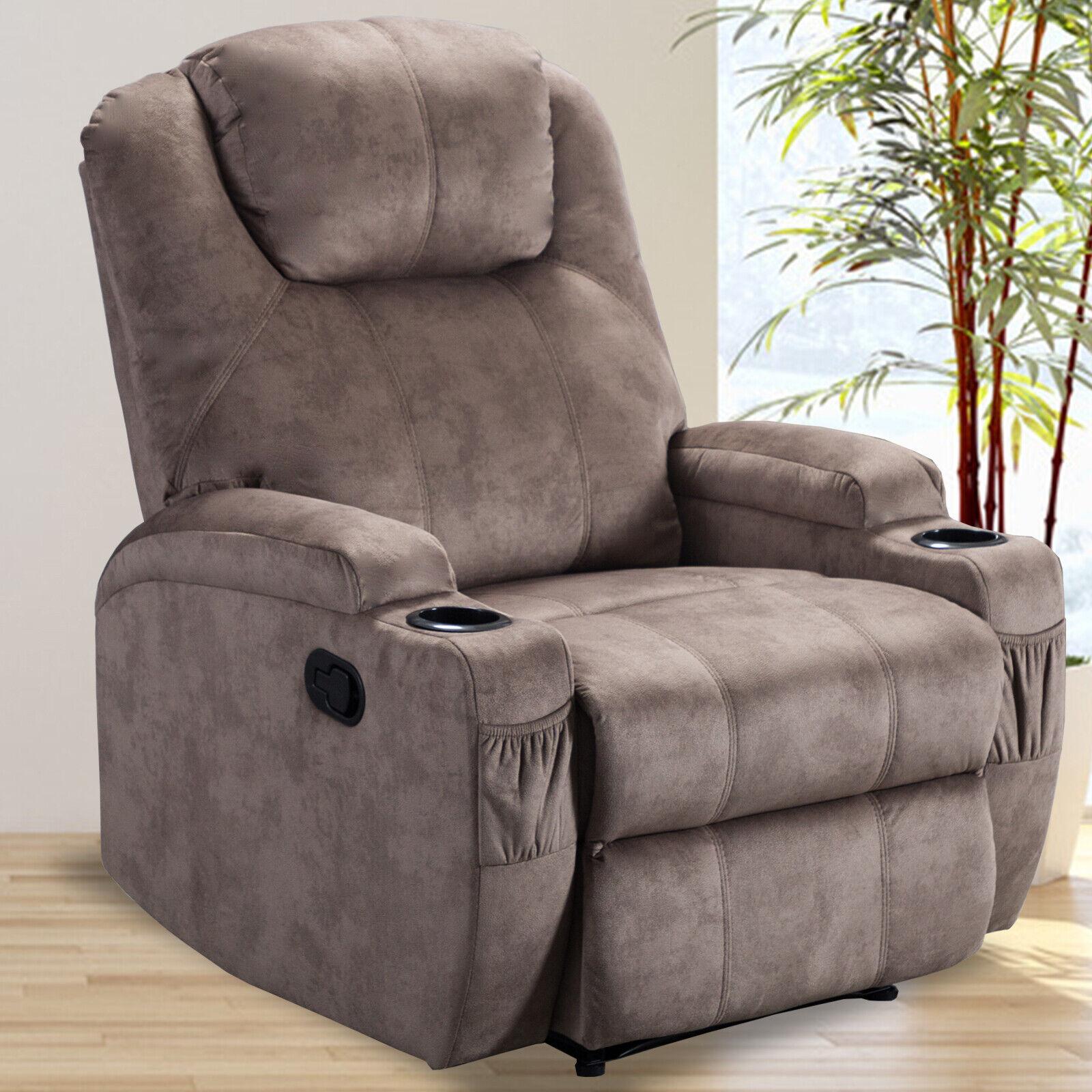 manual recliner chair microfiber sofa armchair w