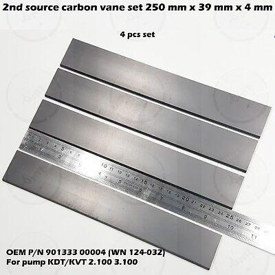 Carbon Vane Set For Becker Pump Kdt Kvt 2.100 3.100 901333 250 39 4 Mm 4 Pcs Kit