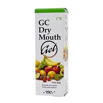 GC Dry Mouth Gel 40g Tube Moisturizing Oral Gel Exp 12/2020 | Fruit Salad 2 PACK Dry Mouth Moisturizing Gel