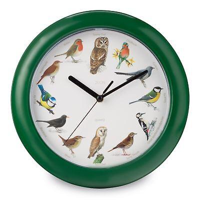BIRD SONG MUSICAL WALL CLOCK CUCKOO SINGING CLOCK - EVERY HOUR NEW