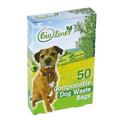 BioLiner Compostable Eco Dog Poo/Waste Bags - Qty 50
