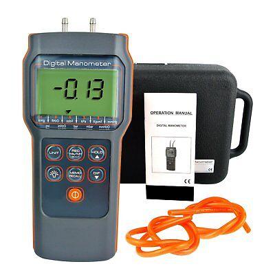 Differential Air Pressure Manometer 15.000 Psi Digital Gauge Tester Hvac Meter