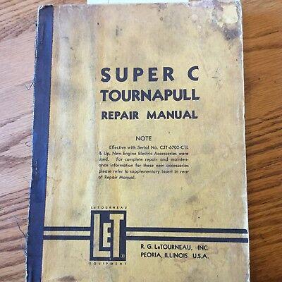 Letourneau Super C Tournapull Scraper Repair Service Manual Troubleshooting Book