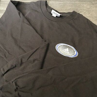 Adidas Long Sleeve Logo T-shirt (Vintage Adidas Long-Sleeve T-Shirt Men's M Athletic 3 Stripe Logo Black )