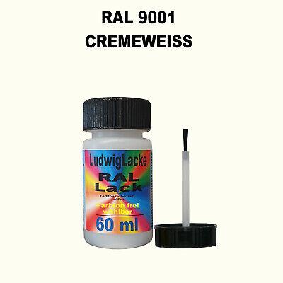 RAL 9001 Cremeweiß Cremeweiss Lackstift 60ml glänzend schnelltrocknend