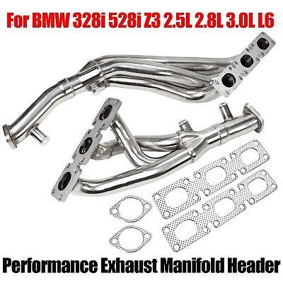 For BMW 328i 528i Z3 2.5L 2.8L 3.0L L6 Performance Exhaust Manifold Headers