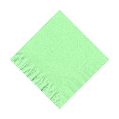50 Plain Solid Colors Beverage Cocktail Napkins Paper - Fresh Mint