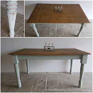 Rustic Country Dining Table | Free Delivery to Select Locations North Lakes Pine Rivers Area Preview