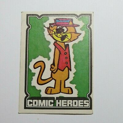 Top Cat Hanna Barbara Scarce Vintage UK Comic Cartoon Sticker Card