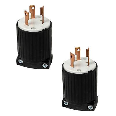 Cooper 125v 30amp Twist Lock Plug L5 Nema Connector 2pk For Generator Rv Marina