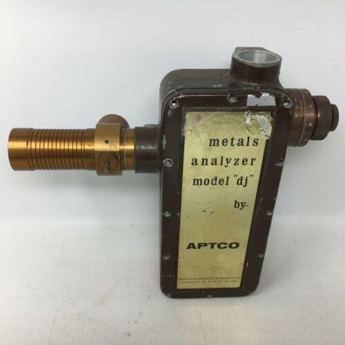"Vintage APTCO Metals Analyzer model ""dj"" Analytical Precision Tech Spectroscope"