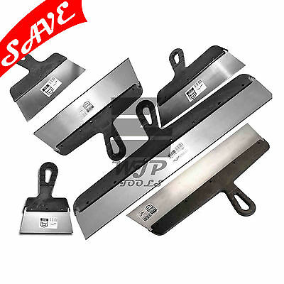 6 PCS - DRYWALL TAPING, FILLING KNIFE, KNIVES, SCRAPER, PLASTERING SPATULA, SET