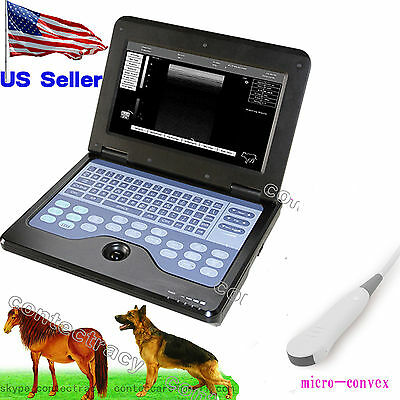 Usa Vet Portable Ultrasound Scanner Veterinary Use Notebook Animalmicro-convex