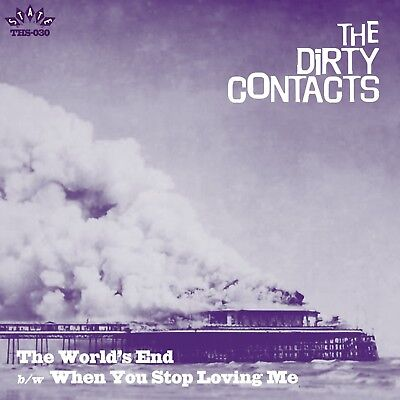 """THE DIRTY CONTACTS The World's End heavy vinyl 7"""" garage punk X-Men Cannibals"""
