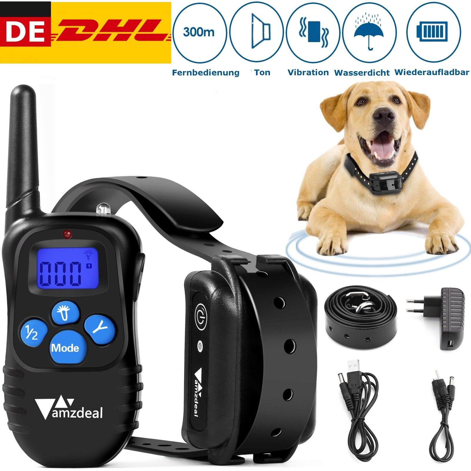 Antibell Halsband Collar Ton Vibration Ferntrainer Erziehungshalsband für Hunde