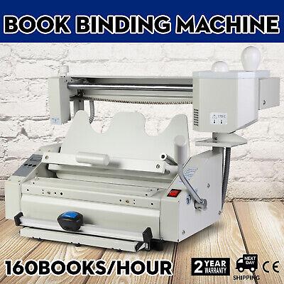 New Hot Melt Glue Binder Perfect Binding Machine Book 110v