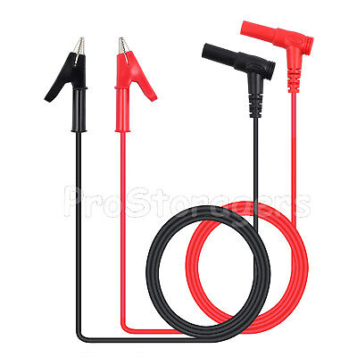 Banana Plug To Alligator Clip Test Hook Probe Cables Heavy Duty For Multimeter
