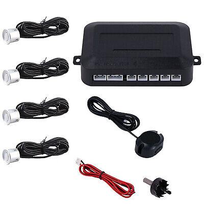Silber Einparkhilfe 4 Sensoren Hinten Rückfahrwarner Parksensor Parkhilfe PDC ()