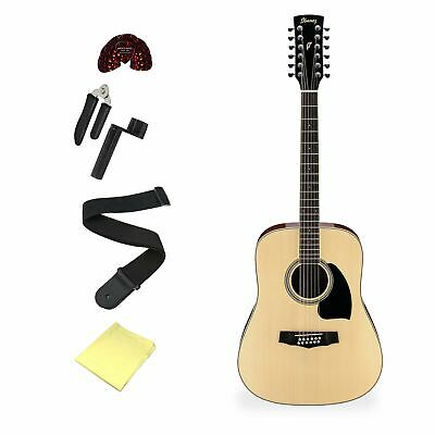 Ibanez PF1512 12-String Acoustic Guitar With Accessories