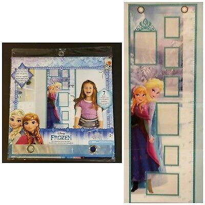 Disney Frozen Elsa Anna Wall Decor Growth Height Measure Chart Photo Pockets
