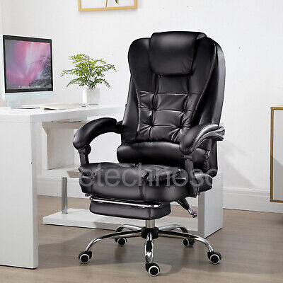 Luxury Black Computer Chair Gaming Chair Swivel Recline Office Chair Home Chair