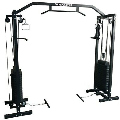 Gym Master 180kg Cable Crossover Machine Equipment Pull Up Multi Station Cage