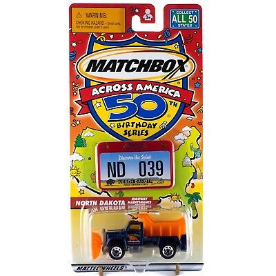 Used, Matchbox Across America ND North Dakota Highway Maintenance Truck #39 50th B'day for sale  Shipping to Canada