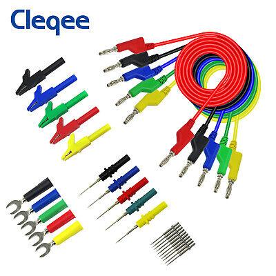 Stackable Banana Plug Cable For Multimeter Automotive Copper Test Lead Kit