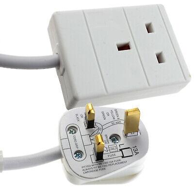 Simple 1 Salidas 13Amp Toma Trasera Red Eléctrica Cable de Extensión 10m