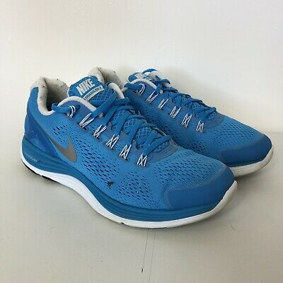 Nike Womens Lunarglide 4 Blue White Gym Sport Running Shoes Trainers UK Size 7