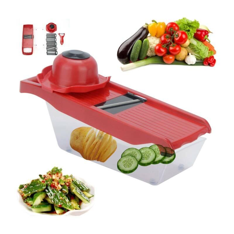 Slicer Manual Vegetable Cutter Steel Chopper Fruit Kitchen P