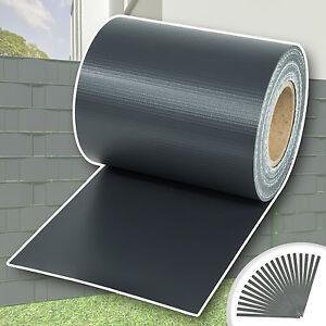 PVC Sichtschutz Streifen Sichtschutzfolie Doppelstabmatten Zaun 35m anthrazit