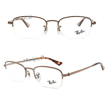 Ray Ban RB 6206 2531 Half-Rimless 50/19/135 Eyeglasses Rx Eyewear New Authentic