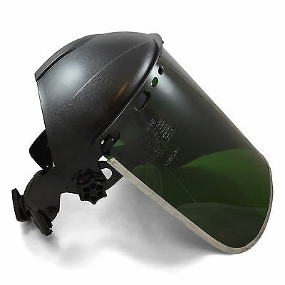 Jackson Style Headgear And Dark Green Face Shield W Aluminum Rim